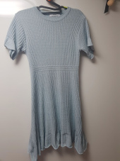 몬츠(MONTS) 912 round neck flared dress (pale blue) 후기