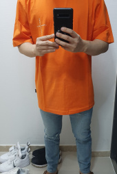 어반스터프(URBANSTOFF) USF Cross Logo Tee Orange 후기