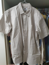 프룻오브더룸(FRUIT OF THE LOOM) S/S 1PK PIN STRIPE SHIRTS BEIGE 후기