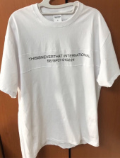 디스이즈네버댓(THISISNEVERTHAT) TN INTL. Panel Tee Black 후기