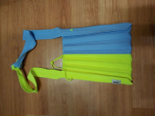 조셉앤스테이시(JOSEPH&STACEY) Lucky Pleats Knit M Half & Half Sky Blue/Neon Yellow 후기