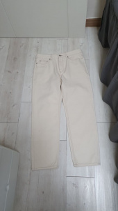 덴메이드(DENMADE) DEN cream straight crop jeans. 후기