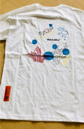 덕다이브(DUCKDIVE) UNDER WATER TEE  WHITE 후기