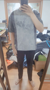 프리즘웍스(FRIZMWORKS) TIE DYED COLORATION TEE _ CHARCOAL 후기