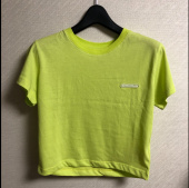 매치글로브(MATCHGLOBE) MG9S COLOR POINT CROP TEE (YELLOW GREEN) 후기