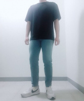 가먼트레이블(GARMENT LABLE) Garment Worker Tapered Crop Jeans / Tapered (Greyish Blue) 후기