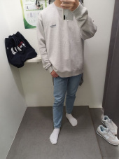 커버낫(COVERNAT) LAYOUT LOGO CREWNECK IVORY 후기