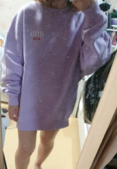 5252 바이 오아이오아이(5252BYOIOI) 2019 SIDE LOGO JUMPER_light purple 후기