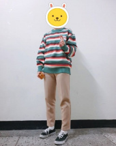 메인부스(MAINBOOTH) Jellybean Sweater(BEIGE) 후기