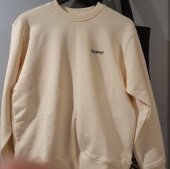 커버낫(COVERNAT) SMALL AUTHENTIC LOGO CREWNECK CORAL BLUE 후기