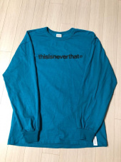 디스이즈네버댓(THISISNEVERTHAT) T-Logo L/SL Top Blue Green 후기