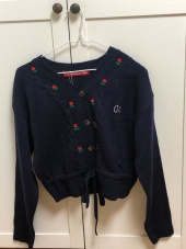 오아이오아이(OiOi) FLOWER POINT CARDIGAN_navy 후기