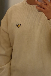 마크 곤잘레스(MARK GONZALES) M/G ANGEL WAPPEN CREWNECK KNIT IVORY 후기