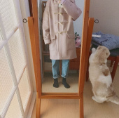 메인부스(MAINBOOTH) 9F Oversized Duffle Coat(PINK) 후기