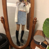 스컬프터(SCULPTOR) Corduroy Slit Mini Skirt [BABY BLUE] 후기