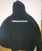 디스이즈네버댓(THISISNEVERTHAT) T-Logo Hooded Sweatshirt Black (002) 후기