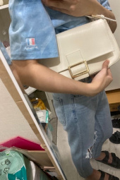 레이브(RAIVE) Real Leather Luke Bag in White_VX0SG0830 후기