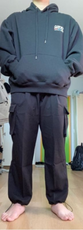 낫포너드(NOT4NERD) Wide String Cargo Slacks Pants Black 후기