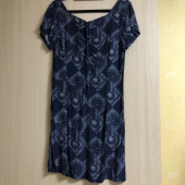 네스티팬시클럽(NASTY FANCY CLUB) [NF]FANCY PAISLEY BUTTERFLY SHIRRING ONE-PIECE (NAVY)(20SS-F807) 후기