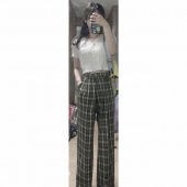 스컬프터(SCULPTOR) Check Wide Leg Pants [GREEN] 후기