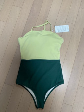 오아이오아이(OiOi) 2 WAY CROSS STRAP SWIMSUIT SET_green 후기