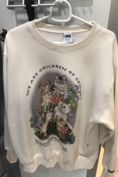 스컬프터(SCULPTOR) [UNISEX] Kitten Friends Sweatshirt [IVORY] 후기