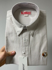 칸코(KANCO) KANCO LOGO OXFORD SHIRT beige 후기