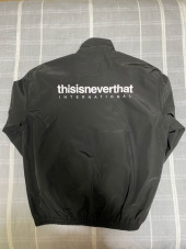 디스이즈네버댓(THISISNEVERTHAT) INTL. Team Jacket Black 후기