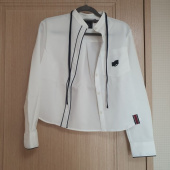 로맨틱크라운(ROMANTIC CROWN) COLLAR RIBBON SHIRT_WHITE 후기