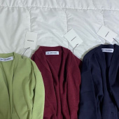 블론드나인(BLOND9) LOUIE BASIC V NECK CARDIGAN_PURPLE 후기