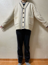 블론드나인(BLOND9) COLORATION KNIT CARDIGAN_BLACK 후기