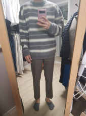 알렌느(HALEINESHOP) GREYCREAM blushed mohair stripe knit (MT225) 후기