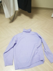 블론드나인(BLOND9) MELANGE TURTLE NECK SWEATER_PINK 후기