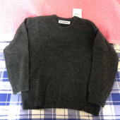 블론드나인(BLOND9) MELANGE ROUND NECK SWEATER_CHARCOAL 후기