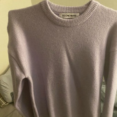블론드나인(BLOND9) MELANGE ROUND NECK SWEATER_GRAY 후기