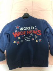 메인부스(MAINBOOTH) World Wide Oversized Sweater(NAVY) 후기
