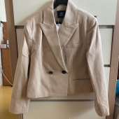 38컴온커먼(38COMEONCOMMON) 20AU DOUBLE BREASTED CROP JACKET (BEIGE) 후기