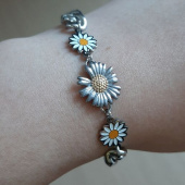 셉텐벌5(SEPTEMBER5) Mix  sunflower chain bracelet 후기