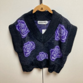 로켓런치(ROCKET X LUNCH) R FLOWER JACQUARD KNIT VEST_BLACK 후기