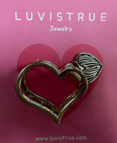 러브이즈트루(LUV IS TRUE) PO HEART PIN(SILVER) 후기