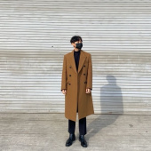 던스트 포 맨(DUNST FOR MAN) UNISEX NEW TAILORED DOUBLE-BREASTED CASHMERE COAT OLIVE CAMEL_M_UDCO0F115CM 후기