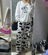 5252 바이 오아이오아이(5252BYOIOI) APPLIQUE FUR PAJAMAS [WHITE] 후기