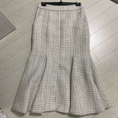 에트몽(ETMON) Tweed Mermaid Skirt  Ivory 후기