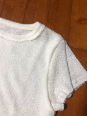 마뗑킴(MATIN KIM) ROUGH STITCH CROP TOP 후기