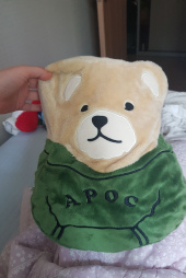 어피스오브케이크(APOC) Signature Bear Cushion&Blanket_Green 후기