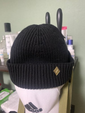 밀리어네어햇(MILLIONAIRE HATS) (cotton) watch cap [BLACK] 후기