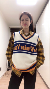 버닝(BURNING) Wonder Year Knit Vest (Ivory) 후기