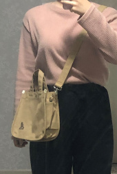 캉골(KANGOL) Canvas Tote Bag Mini 3727 BISCUIT 후기