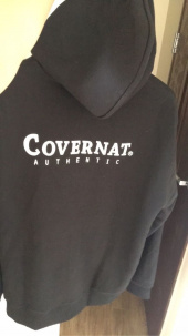 커버낫(COVERNAT) AUTHENTIC LOGO HOODIE ZIP-UP BLACK 후기