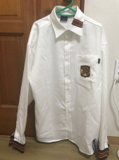 로맨틱크라운(ROMANTIC CROWN) Striped Cuffs Shirt_White 후기